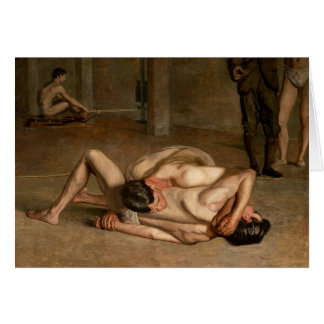 Wrestlers by Eakins Card