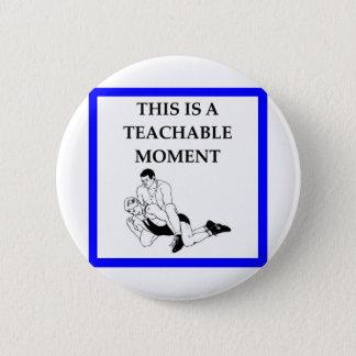 wrestling 2 inch round button