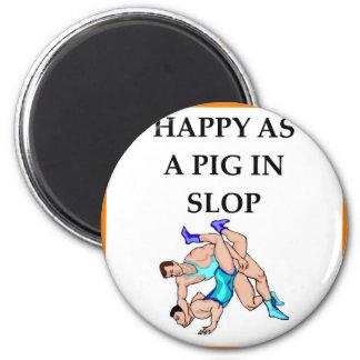 wrestling 2 inch round magnet