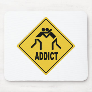 Wrestling Addict Mouse Pad
