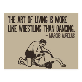 Wrestling and life - Roman quote postcard