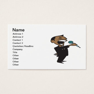 Wrestling Announcer Business Card