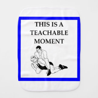 wrestling burp cloth