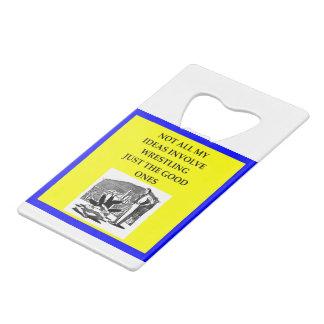 WRESTLING CREDIT CARD BOTTLE OPENER
