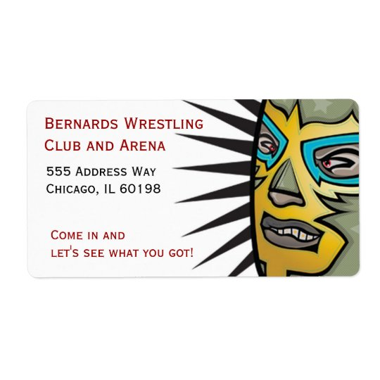 Wrestling Lucha Libre Address labels