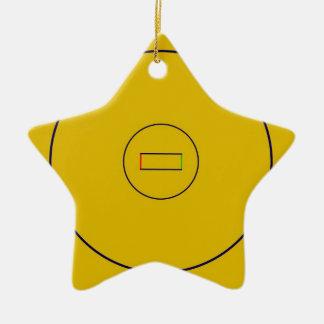 Wrestling Mat Ceramic Star Ornament