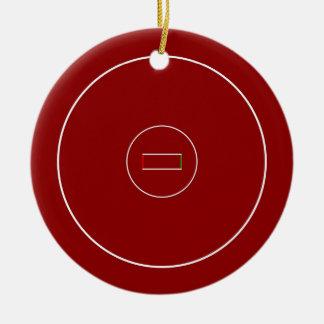 Wrestling Mat Round Ceramic Ornament