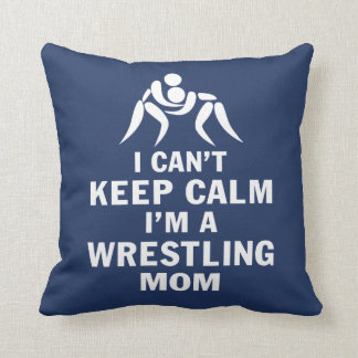 Wrestling Mom Throw Pillow