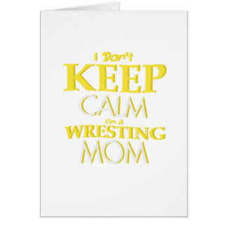 Wrestling Mom Wrestle Wrestling Funny Card