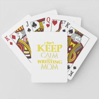 Wrestling Mom Wrestle Wrestling Funny Playing Cards