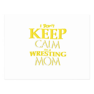 Wrestling Mom Wrestle Wrestling Funny Postcard