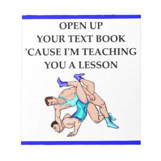 wrestling notepads