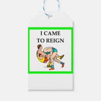 wrestling pack of gift tags
