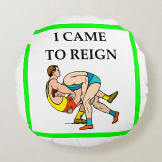 wrestling round pillow
