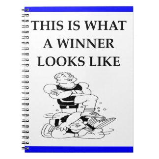 wrestling spiral notebook