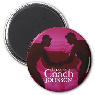 Wrestling Thanks Coach Silhouette Red Magnet