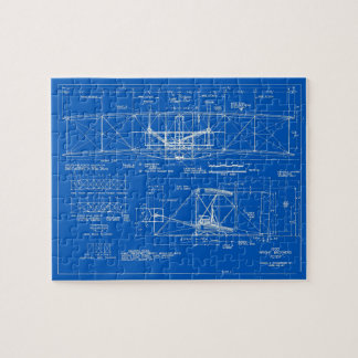 "Wright Bros. ""Flyer"" Blueprint 1903 Jigsaw Puzzle"