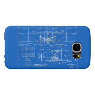"Wright Bros. ""Flyer"" Blueprint 1903 Samsung Galaxy S6 Cases"
