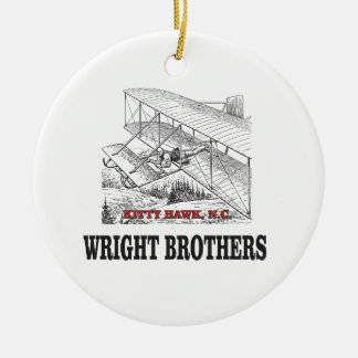 wright brother history ceramic ornament