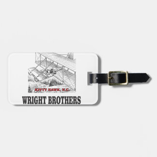 wright brother history luggage tag