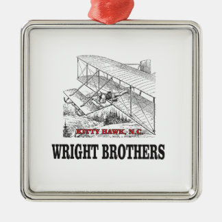 wright brother history metal ornament