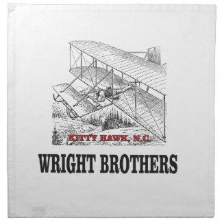 wright brother history napkin