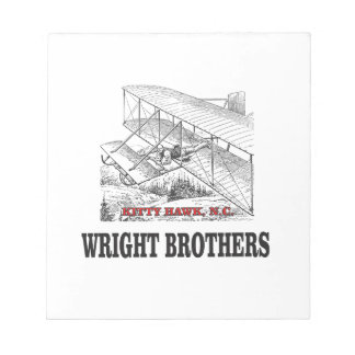 wright brother history notepad