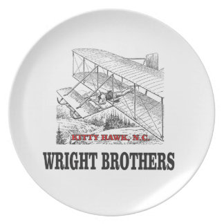 wright brother history plate