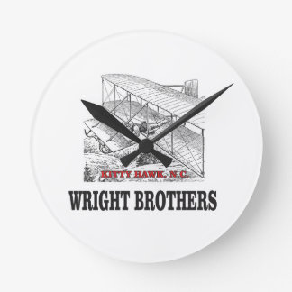 wright brother history round clock