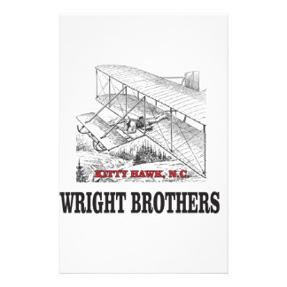 wright brother history stationery