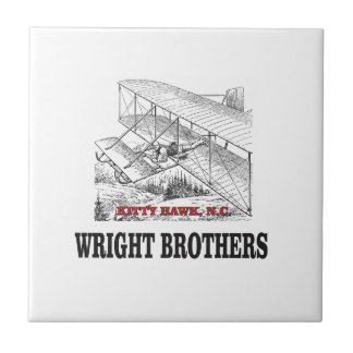 wright brother history tile