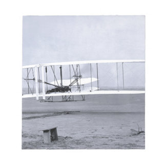 Wright Brothers' First Airplane Flight in 1903 Notepad