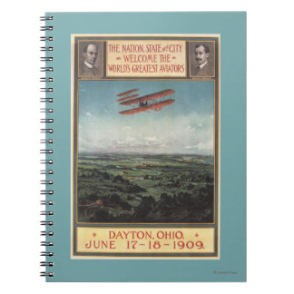 Wright Brothers Plane Spiral Notebooks