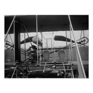 Wright Brothers Plane with Pilot and Poster