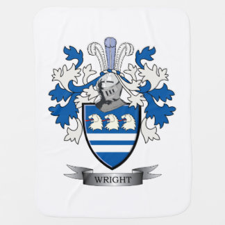 Wright Coat of Arms Receiving Blanket