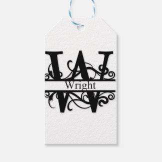 Wright Monogram Gift Tags
