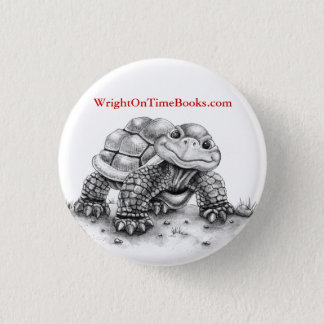 Wright on Time Books Turtle 1 Inch Round Button