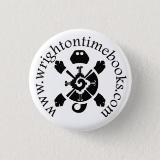 Wright on Time Books Turtle Logo 1 Inch Round Button