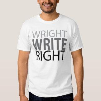 Wright, Write, Right Tshirts
