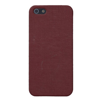 Wrinkled Burgundy Book Cover iPhone 4 Case