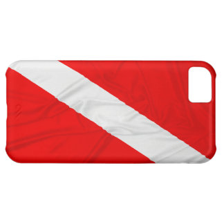 Wrinkled Diver Down Flag iPhone 5C Case
