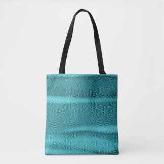 wrinkled effect cyan blue tint tote bag