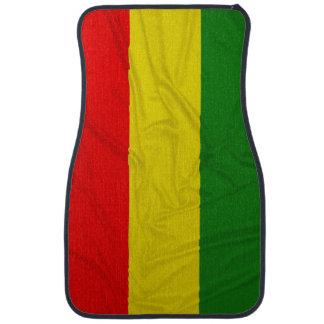 Wrinkled Rastafarian Flag Car Mat