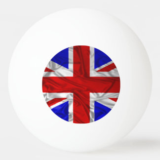 Wrinkled Union Jack Flag Ping Pong Ball
