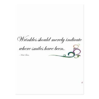 Wrinkles Postcard