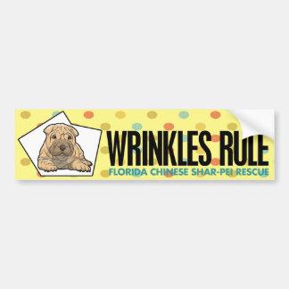 Wrinkles Rule Bumper Sticker