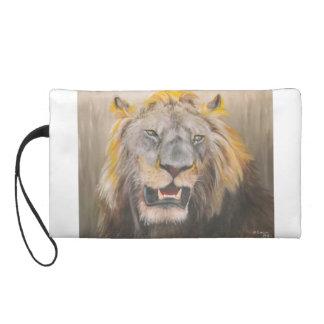 Wristlet bag of lions head