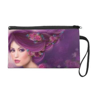 Wristlet beautiful Fantasy woman with purple hairs