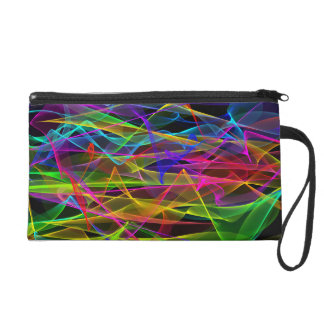 Wristlet - Mini-Purse - Ribbons of Light (Night)