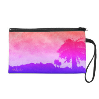 "Wristlet - Pink""Desert Sunset Gold"" by All Joy Art"